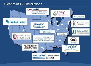 MRIC ClearPoint system installations in US